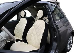 Siège-auto Housses Fiat 500 avec Logo Housses De Protection spécifique à la couleur noire