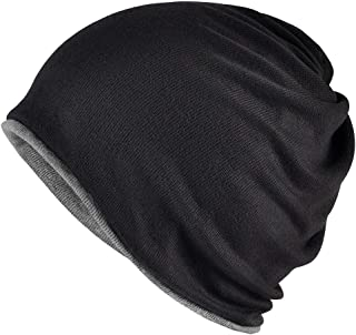 KISSTYLE リバーシブル ワッチ コットン ニット帽 メンズ レディース 医療用帽子 3WAY ビーニー