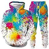 DREAMING-Traje de suéter con capucha de otoño e invierno 3d para amantes del graffiti Top de manga larga + pantalón traje deportivo de ocio 5XL