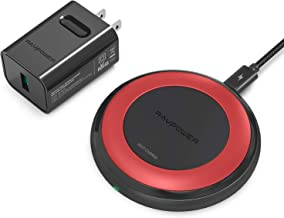 Fast Wireless Charger RAVPower 7.5W Compatible iPhone Xs MAX XR XS X 8 8 Plus with HyperAir, 10W Compatible Galaxy S9, S9+, S8, S7, Note 8 and All Qi-Enabled Devices