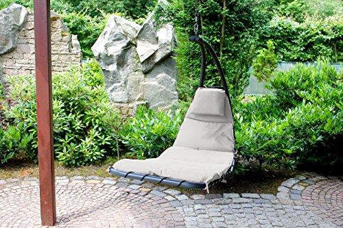 Leco Gartenliege, Hängeliege Dream, lichtgrau, 163 x 75 x 122 cm, 36002214 - 2