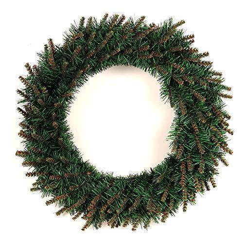 DHFW Weidenkranz Weihnachten kränze Türkranz Künstliche Runden Für Tür Wand Weihnachten Hochzeit Party Dekoration Ornamente -Ohne Licht 80cm(31.5inch)