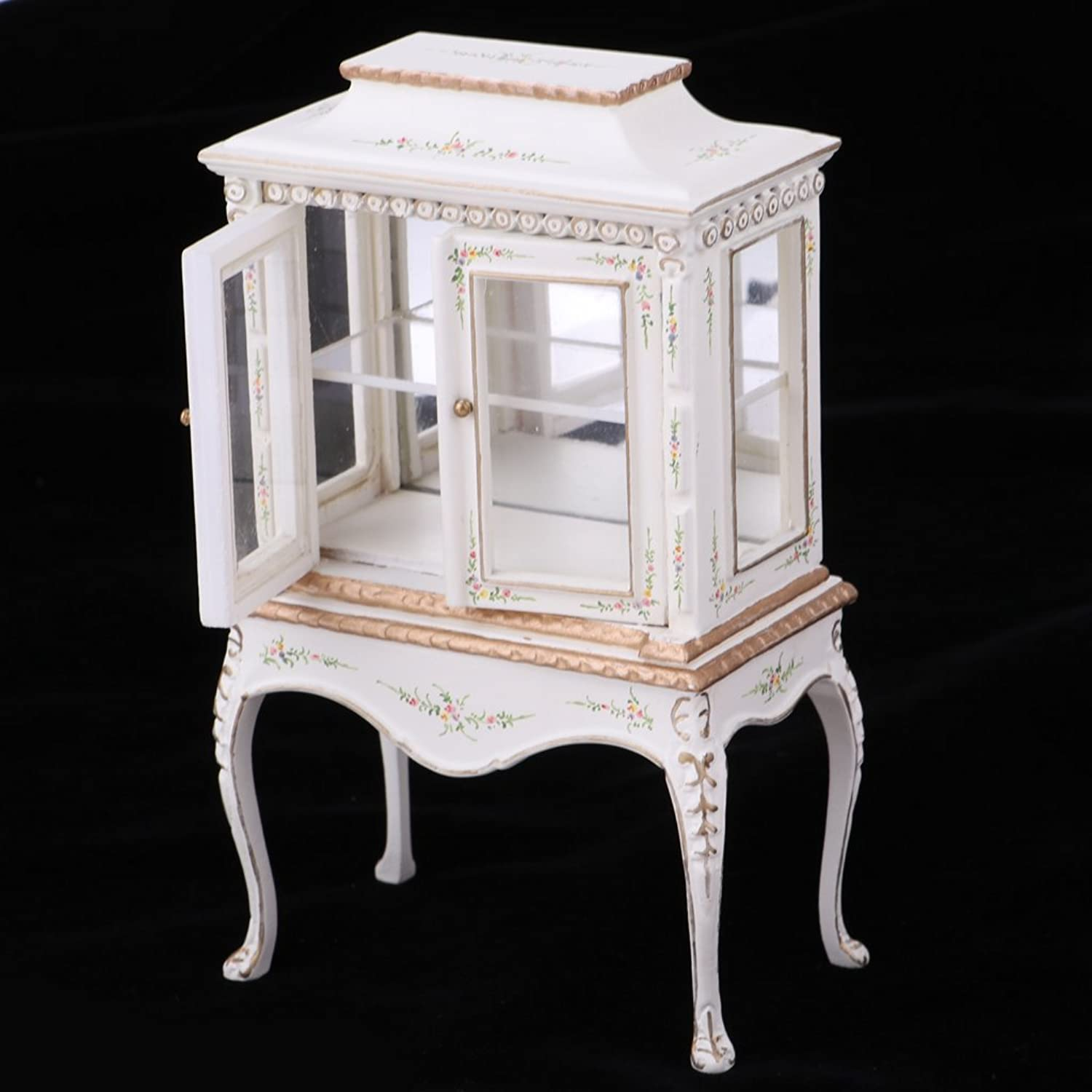 MagiDeal 1 12 Dollhouse Furniture Wood Collection Cabinet Model Miniature Living Room Accessories Decor