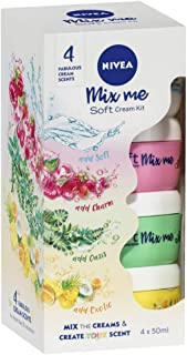 NIVEA Scented Body Lotion. Mix Me Soft Cream Moisturising Kit. 4 Fabulous Cream Scents. Mix the Creams and Create Your Scent, 4 X 50ml