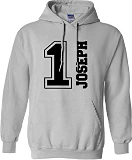 Personalised Custom Name & Number Hoodie birthday Age Football Sports Kids adult