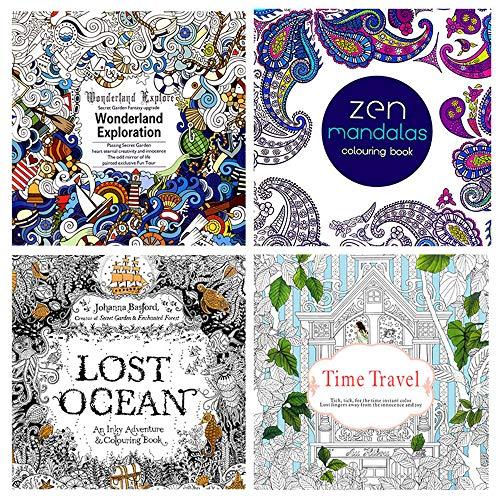 Malerei Mandala, DIY, Garten, Secret, handbemalt, zum Ausmalen, Zeichnen und Farbstifte, für Scrapbooking, Geburtstagskarte
