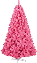 Ariv Pink Christmas Tree 1.8M 6Ft Bushy 1200 PVC Tips Metal Stand Frame Easy Assemblely for Family Home Hotel Store Mall H...