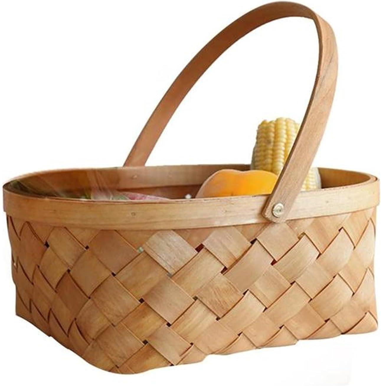 pot Bamboo Popular Max 50% OFF standard Woven Storage Portable Handmade Rattan Basket