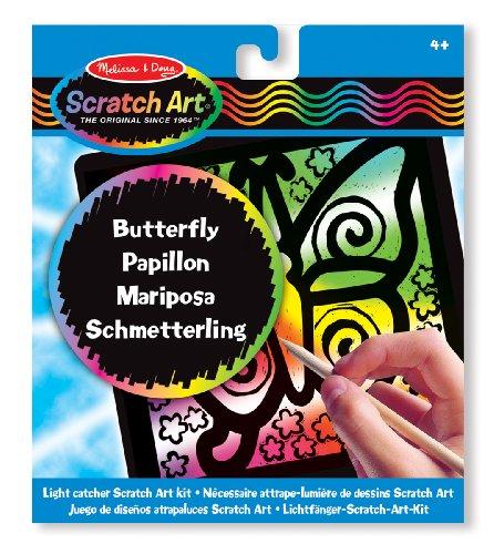 Melissa & Doug - 15885 - Kit De Loisirs Créatifs - Nécessaire Attrape-lumière De Dessins Scratch Art - Papillon