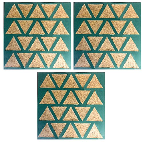 Set of 3 - Dehydrator Triangle Chip Mold Shape Silicone Sheet Mat for Excalibur Dehydrating 14