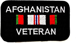 Afghanistan Veteran Ribbon Military Embroidered Patch Iron Sew BSPM0441