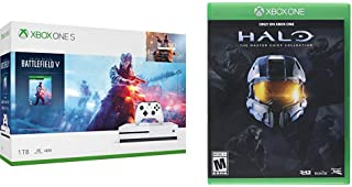 Xbox One S 1TB Console - Battlefield V Bundle Bundle with Halo: The Master Chief Collection