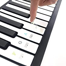 Piano Stickers for Keys Removable,Muyos Color Letter notes K