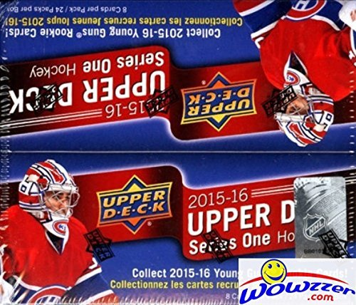 2015/16 Upper Deck Series 1 NHL Hockey MASSIVE Factory Sealed 24 Pack Retail Box with 192 Cards & Game Jersey Card! Includes 6 Young Guns Rookies! Look for Connor McDavid Young Gun RC worth $200!