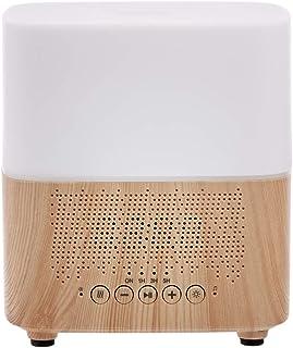 Amazon Basics Diffuseur d'huiles essentielles d'aromathérapie à ultrasons avec haut-parleur Bluetooth et réveil Base effet...
