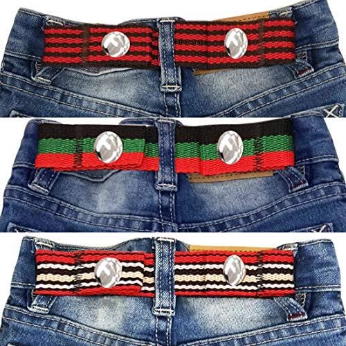 Sister Selected Adjustable Snap Belt for Baby/Toddler Boy & Girl Pant - 3 Pack: (Mix 1)