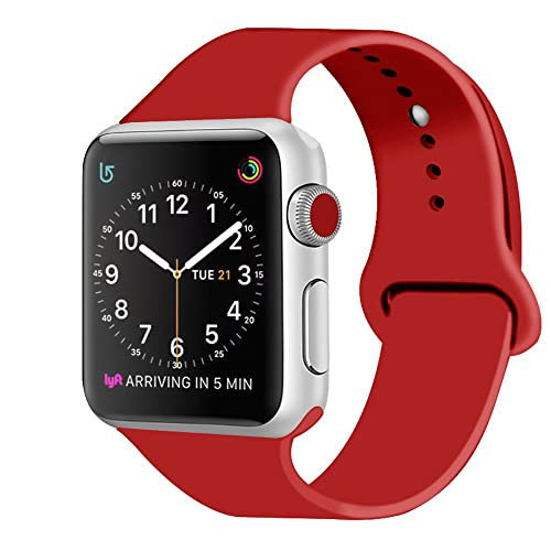 ZRO para Apple Watch Correa, Silicona Suave Reemplazo Sport Banda para 42mm iWatch Serie 3