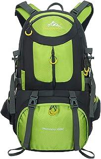 Mochilas de Senderismo al Aire Libre - Mochila de Senderismo Impermeable Macutos Ergonómica Viajes Excursiones Acampadas Trekking, Verde, 40L