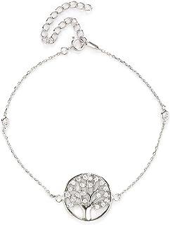 Sterling silver jewelry, multi-layer Life Tree bracelet, sun and star catching net dream girl Bracelet