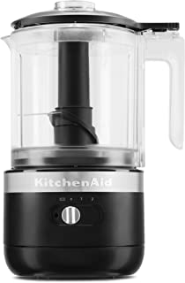 KitchenAid KFCB519BM Cordless Chopper, 5 cup, Black Matte