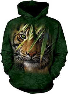 Unisex Adult Emerald Forest Tiger Animal Hoodie