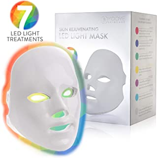 YOOVE LED Face Mask - 7 Colors Including Red Light Therapy For Healthy Skin Rejuvenation | Home Light Therapy Facial Care Mask