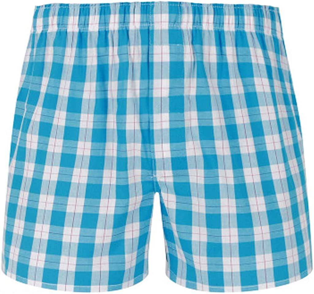 FORUU Mens Plaid Shorts 2020 Summer,Casual Comfort Soft Mens Boxer Briefs Pajama Household Home Shorts Pants