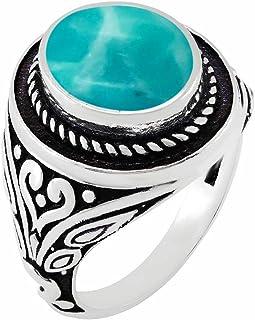 MIRRAMOR Anillo de amatista natural labradorita de piedra lunar de 9 x 11, forma ovalada, anillos solitarios para mujeres,...