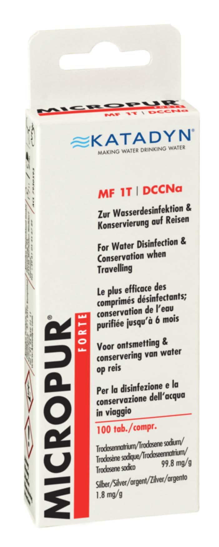 Katadyn Micropur Forte MF 1t tabletas de purificación de Agua ...