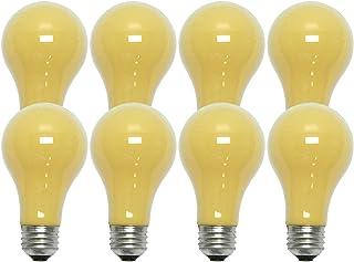 GE Lighting Bug Outdoor Light Bulb, 90W, 700 Lumen, Yellow (8 Bulbs)