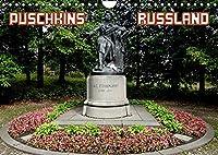 PUSCHKINS RUSSLAND (Wandkalender 2022 DIN A4 quer): Puschkins Erbe im Lande seiner Ahnen (Monatskalender, 14 Seiten )