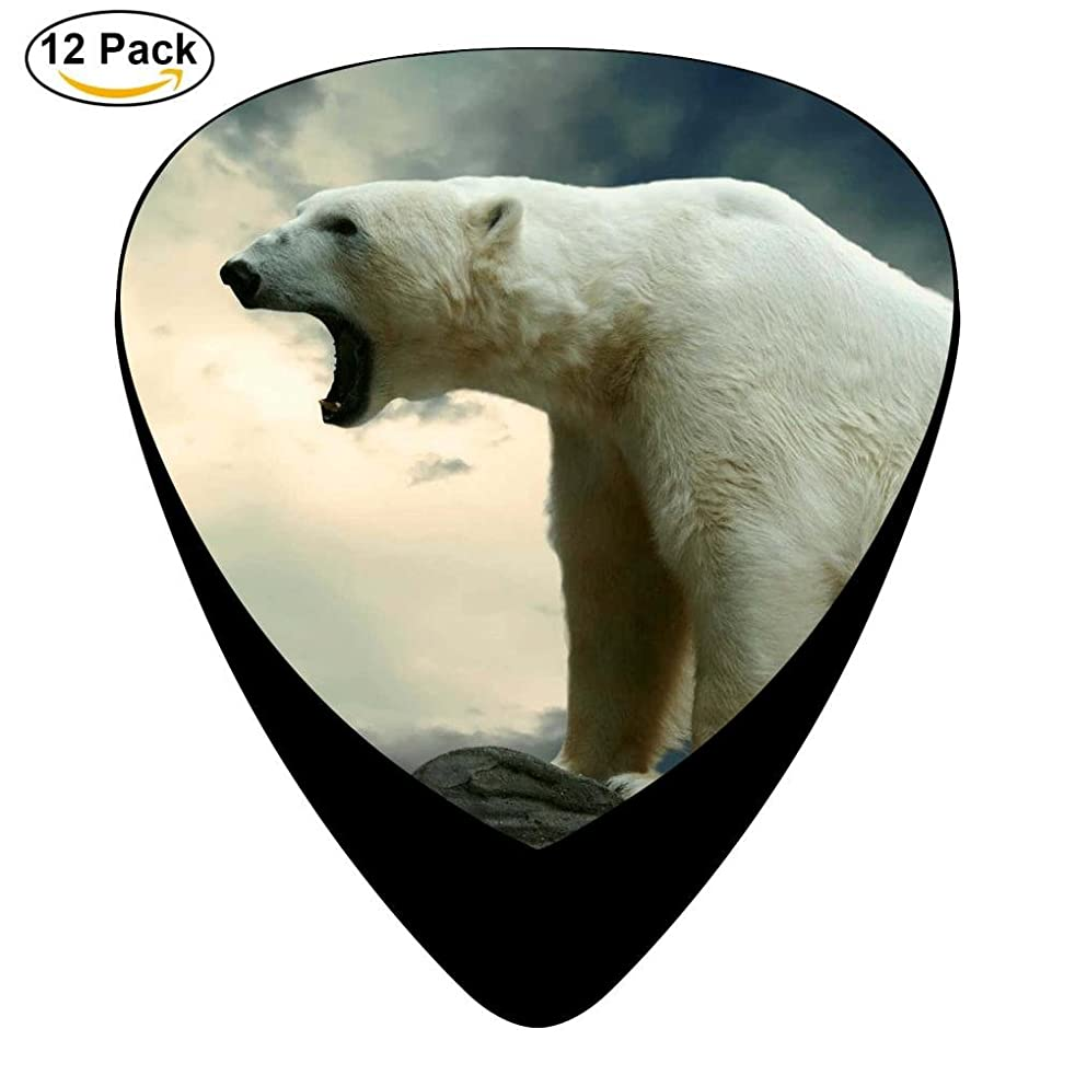 Guitar Picks Celluloid Angry Polar Bear 12 Pack Shape For Acoustic Guitar Mandolin Electric Guitar And Bass