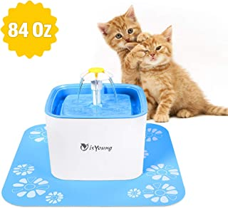 isYoung Cat Water Fountain 84Oz/2.5L Pet Water Fountain Dog Water Dispenser Pet Drinking Fountain for Dog, Cat and Small pet