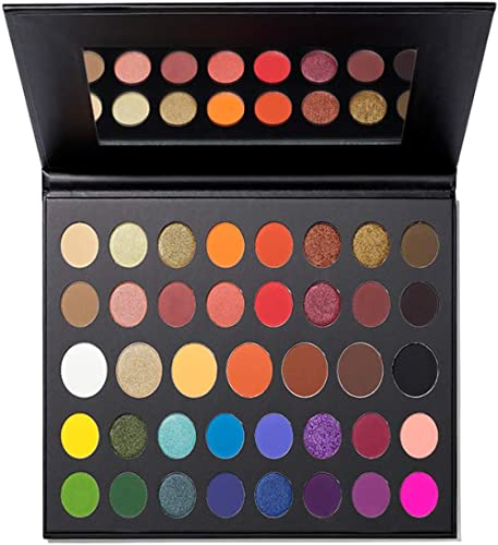 Morphe x James Charles The Mini Palette - 39 Eyeshadows and Pressed Pigments - Perfect for On-The-Go Glam - Matte, Me...
