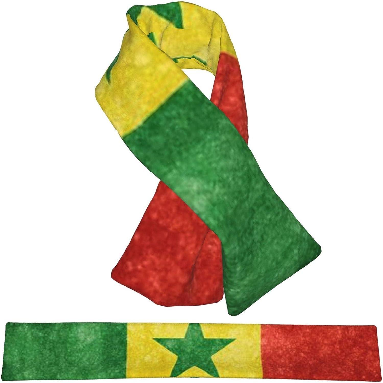 Winter Scarfs Vintage Senegal Flag Scarves Wraps Neck Warmer Flannel Winter Cross Tie Scarves