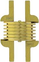 SOSS 106 مفصلة غير مرئية من الزنك مع فتحات للتطبيقات المعدنية، والتركيب السطحي المخفي، والطبقة الخارجية من النحاس الساتان (عبوة من 2)