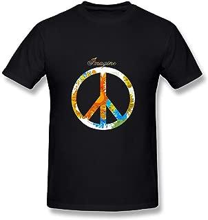 Imagine John Lennon Logo Men's T Black