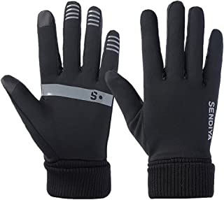 Winter Gloves Touch Screen Cycling Gloves, Thermal Glove for Smart Phone Anti-Slip Hand Warmers Windproof for Men Women Outdoor Riding Driving Running