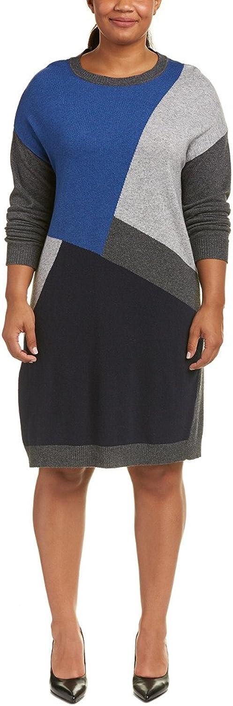 Marina Rinaldi Women's Gardone color Block Sweater Dress, Grey