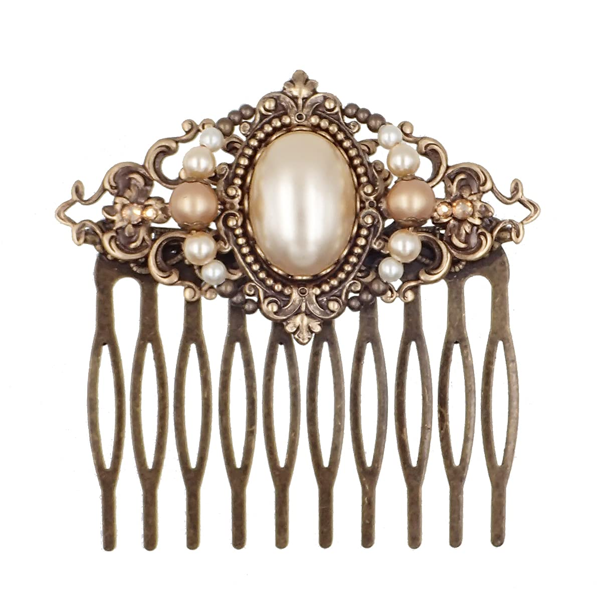 Vintage safety Victorian Style Bridal Hair with made Simul Crystal Comb Popular brand in the world