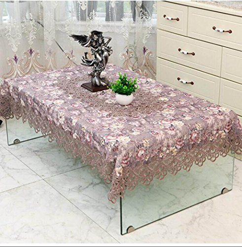 TABLECLOTH kant thee tafel rond tafelkleed, restaurant banket rechthoekig tafelkleed TV koelkast bloemenstandaard plaats doek (kleur: I, grootte : 140 * 200cm)