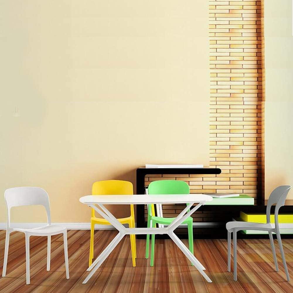 Simple moderne en plastique à manger chaise européenne dossier chaise fauteuil d'hôtel café occasionnel bureau chaise en plastique (Color : Green) Green