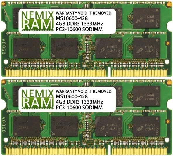 Ranking TOP6 8GB 2x4GB DDR3-1333MHz PC3-10600 Laptop Memory 2Rx8 SODIMM Factory outlet
