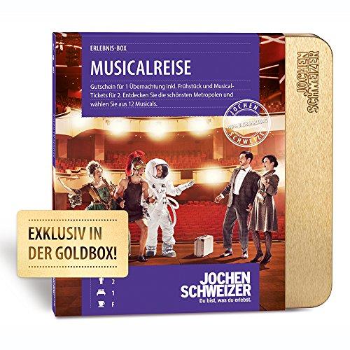 Jochen Schweizer Erlebnis-Box 'MUSICALREISE FÜR 2', mehr als 11 Musicals inkl. Übernachtung, Frühstück und Musicaltickets für 2 Personen, Gutschein mit Geschenk-Box