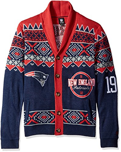 New England Patriots 2015 Ugly Cardigan Extra Large
