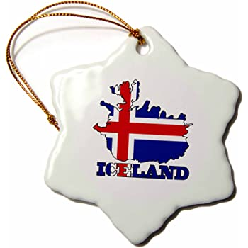 Amazon Com 3drose Orn 63153 1 The Flag Of France In The Outline Map Of The Country And Name France Snowflake Decorative Hanging Ornament Porcelain 3 Inch Home Kitchen