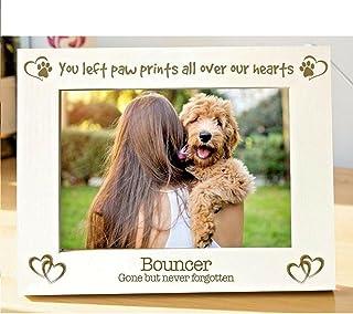WNGGADH Cadre photo personnalisable pour chien - Cadeau commémoratif - 10,2 x 15,2 cm