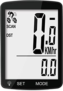 Nellvita Wireless Bike Computer, 20 Multi-Functions, Real Waterproof Bicycle Speedometer, Cycling Odometer with 3'' Large ...