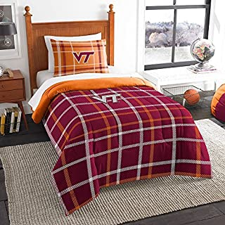 Northwest COL 835 Sham NOR-1COL835000075BBB 64 x 86 Virginia Tech Hokies NCAA Twin Comforter Set, Soft & Cozy