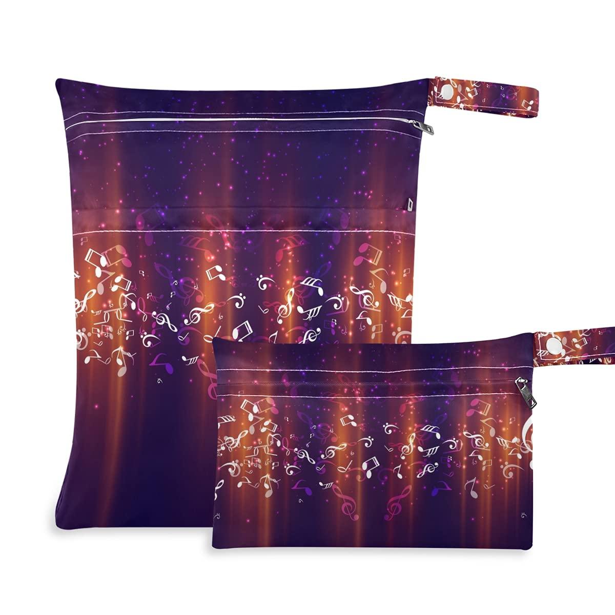 Fancy Award-winning store Music Popular brand Note Wet Dry for Diaper Reusable Swimsui Bag